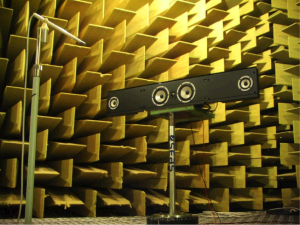 Figur 1. Lyddødt rom (anechoic chamber) hos SEAS as i Moss.