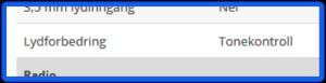 """NetOnNet oppgir """"Lydforbedring"""" i spesifikasjonene."""