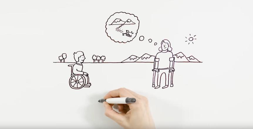 Utsnitt fra filmen om aktivitetshjelpemidler av Valnesfjord