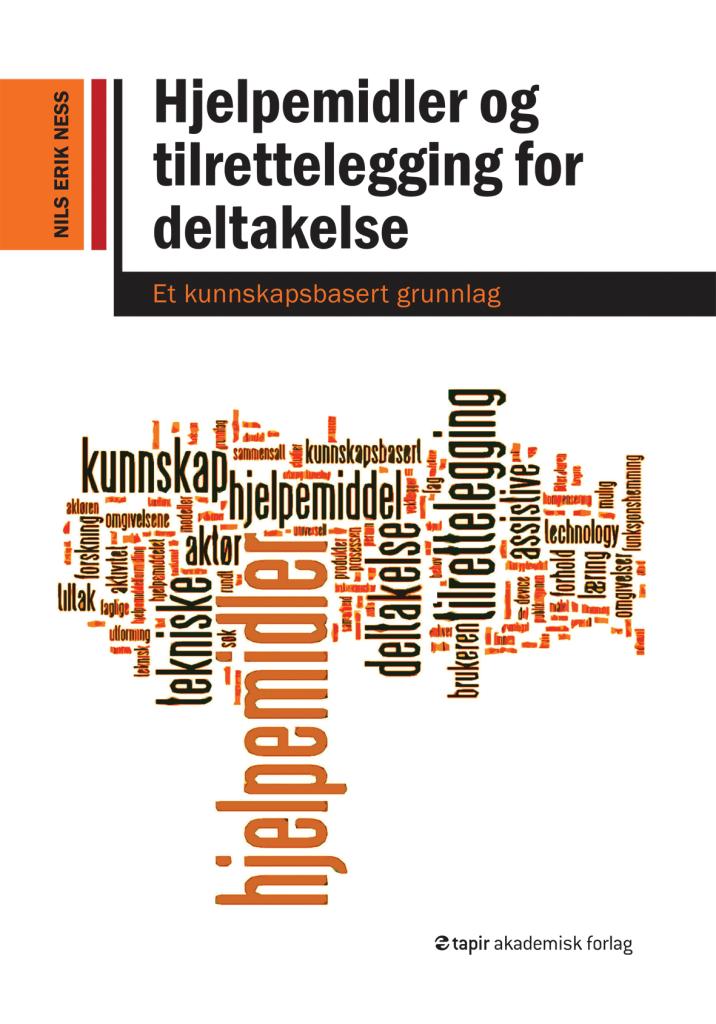 Forsiden til boka Hjelpemidler og tilrettelegging for deltakelse