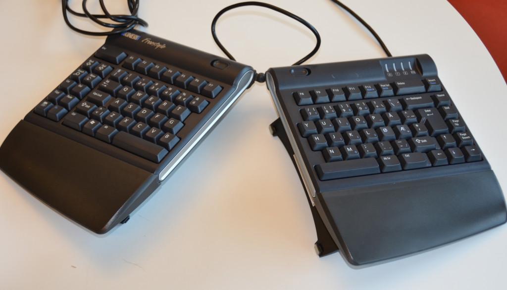 Delt tastatur