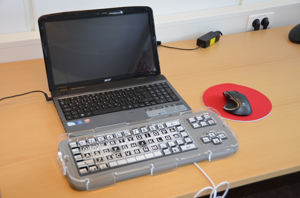 Forstørret tastatur