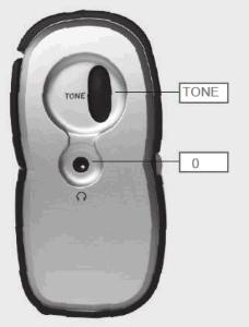 Nærbilde av tonekontroll på Grundig DAB-radio