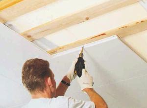 Montering av takplater