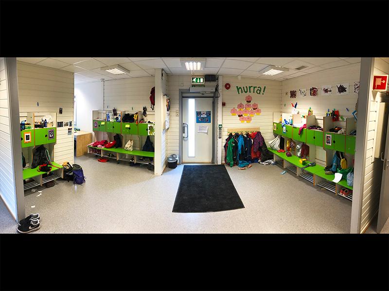 Garderoben i Hammerfestgata barnehage