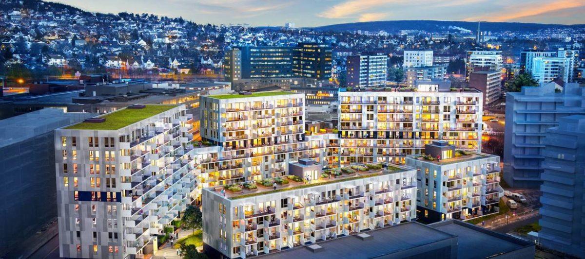 Nyegaardskvartalet, Oslo (Foto: Veidekke)