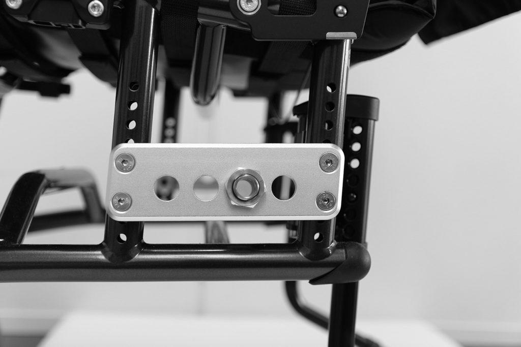 Innfestingsposisjoner for drivhjul på XLT Swing manuell rullestol