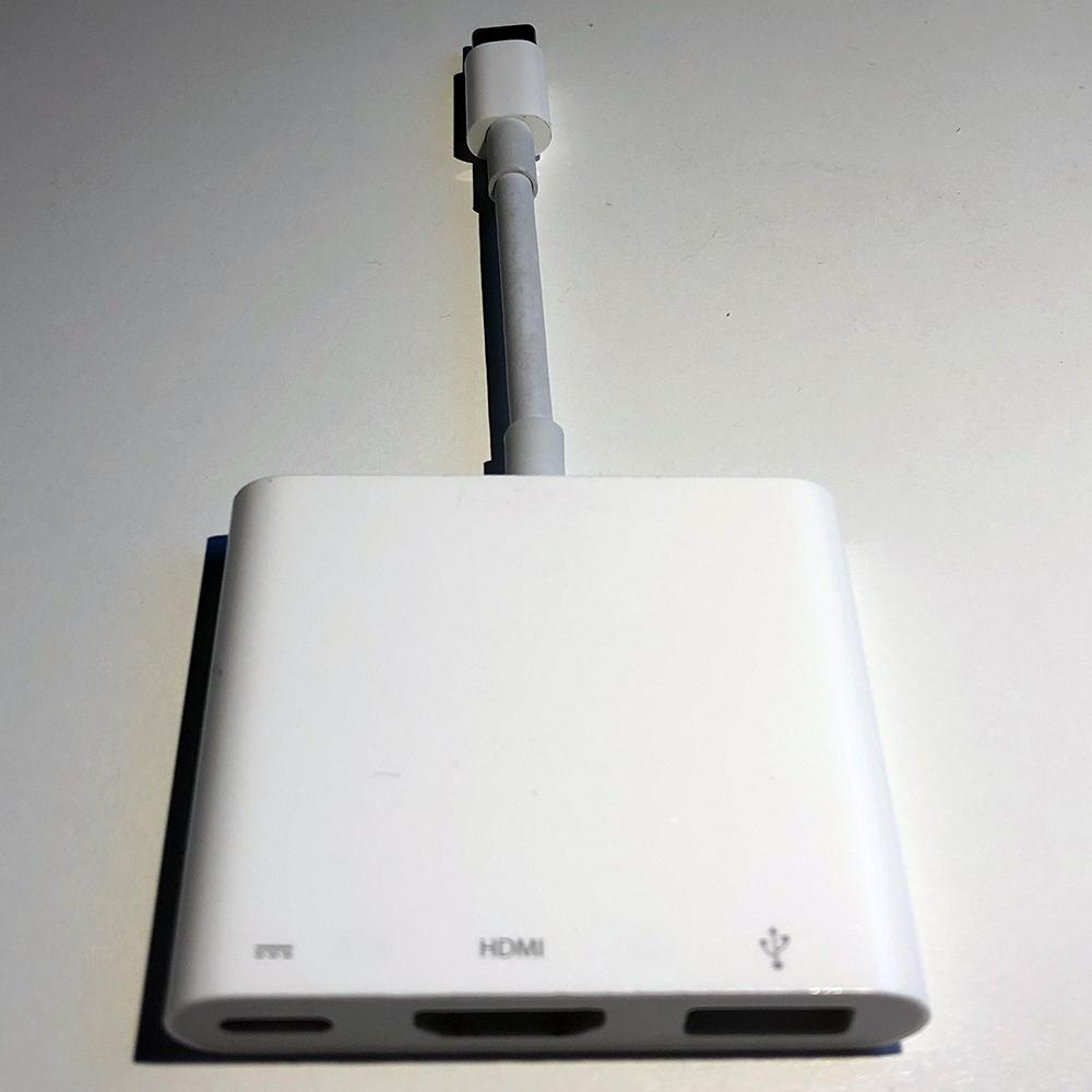 Eksempel 2 på kabel med overgang fra USB til Lightning