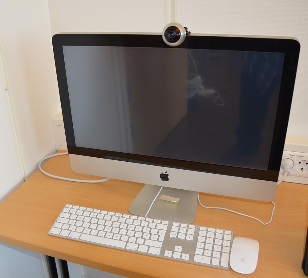Hodemus montert på en iMac (Foto: Frank Lunde)