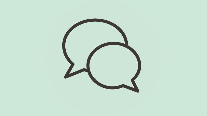 Ikon: To snakkebobler