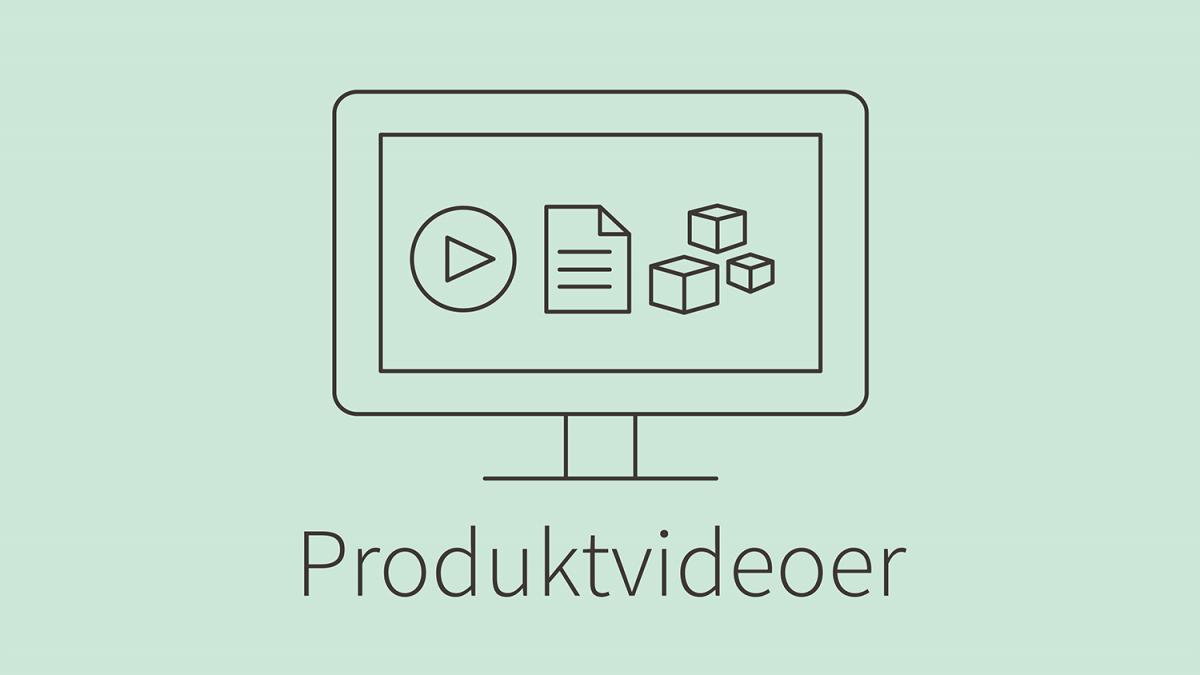 Illustrasjon: produktvideoer