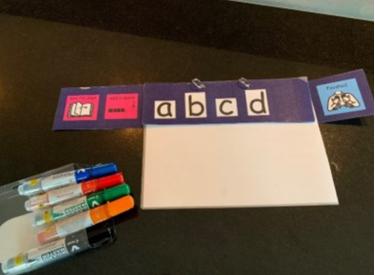 Eksempel på alfabetplansje (Foto: Statped)