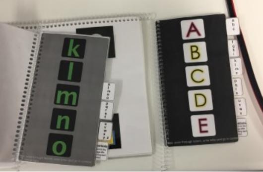 Eksempel på alfabet i bokform (foto: statped.no)