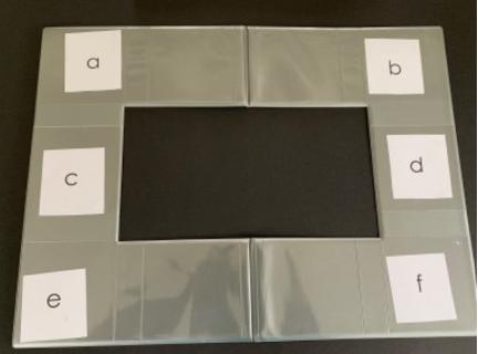 Eksempel på alfabet på en øyepeketavle (foto: statped.no)