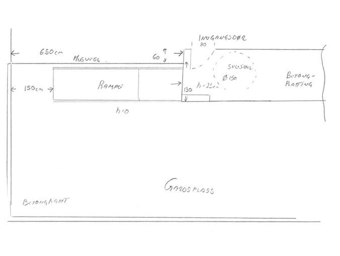 Eksempel adkomst - målsatt tegning