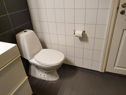 Eksempel toalett gulv - avstandsbilde