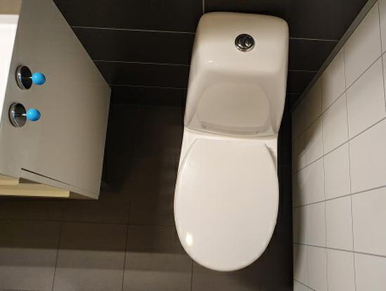 Eksempel toalett gulv - ovenfra