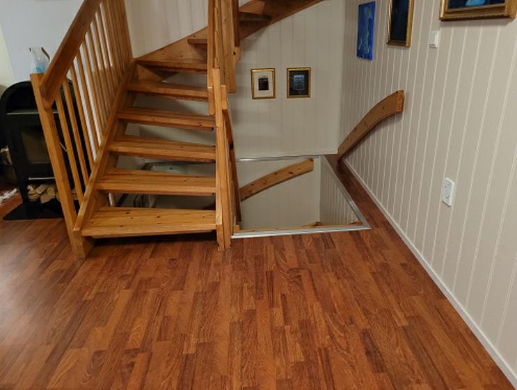 Eksempel trappeheis - avslutning nede