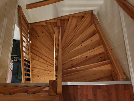 Eksempel trappeheis - avslutning oppe